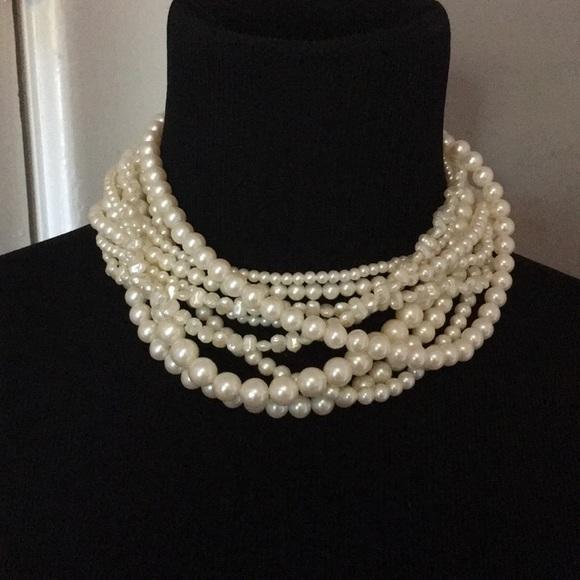 Vintage Jewelry Richelieu Pearl Necklace 9 Strand Nwtnos Poshmark